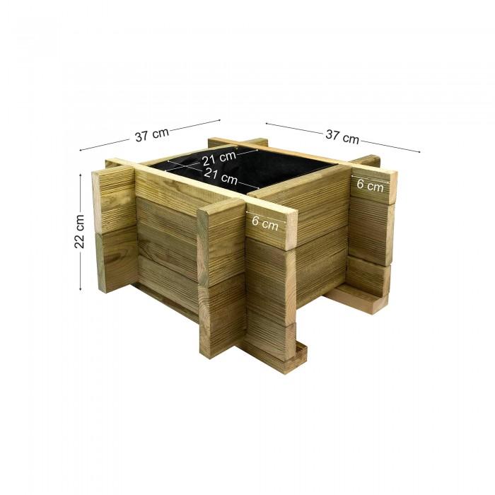 Ξύλινη γλάστα ECONOMY - 37x37x22