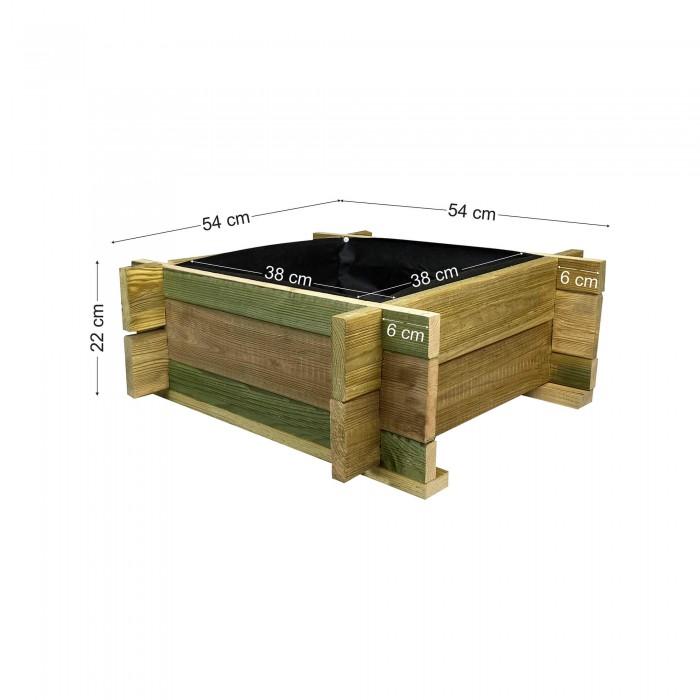 Ξύλινη γλάστα ECONOMY - 54x54x22