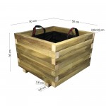 ΤΕΤΡΑΓΩΝΗ ξύλινη γλάστρα - 50x50x36