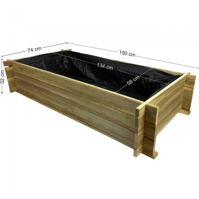 Λαχανόκηπος Tέσιας 150x74x32cm