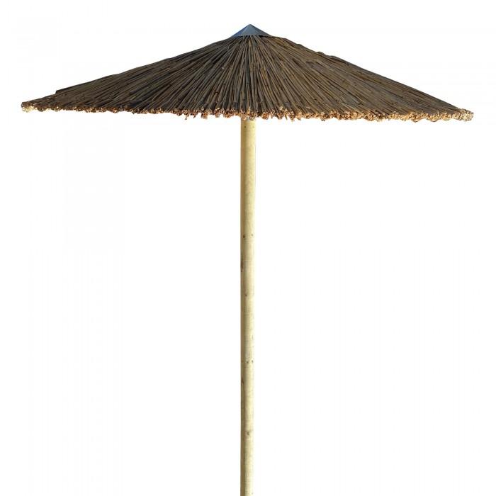 Ομπρέλα ψάθινη παραλίας ενισχυμένη επαγγελματική