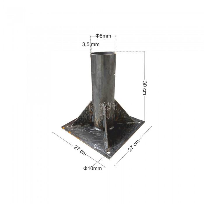 Βάση βαρέως τύπου για ιστό ψάθινης ομπρέλας