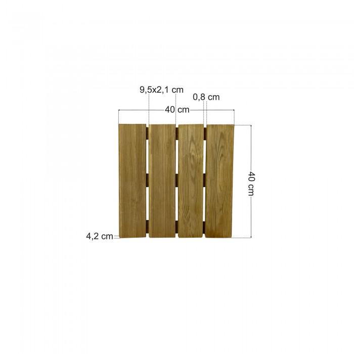 Πάτωμα πλακάκι ντεκ εξωτερικού χώρου - 40x40cm