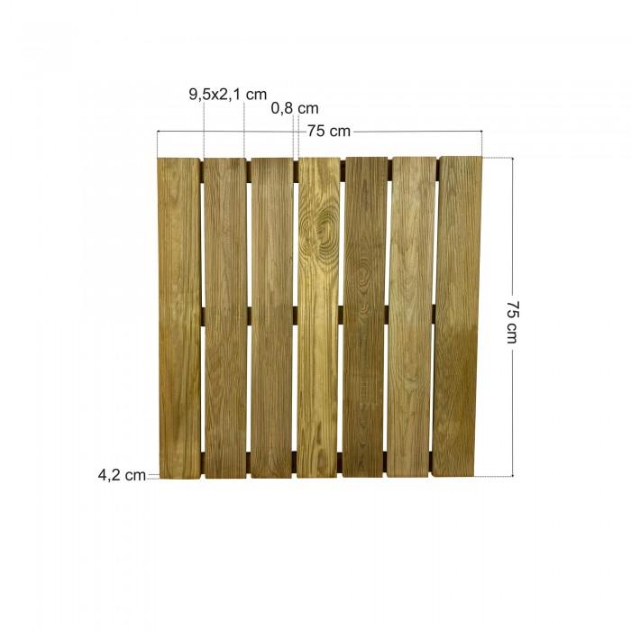 Πάτωμα πλακάκι ντεκ εξωτερικού χώρου - 75x75cm