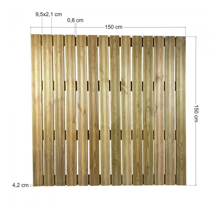 Πάτωμα πλακάκι ντεκ εξωτερικού χώρου - 150x150cm