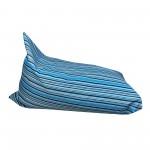 Πουφ πολυμορφικό Ριγε-Γκρί-Σιελ Κραβόπανο <br> 120x85x90cm