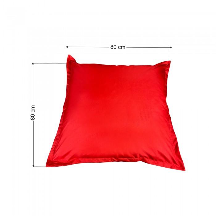 Πουφ Μαξιλάρα κόκκινη Υφασμάτινη <br> 80x80x12cm