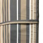 Στρώμα ξαπλώστρας 4cm ριγέ γκρι