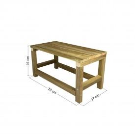 Τραπέζι παραλίας / κήπου φαγητού 70x37x36cm