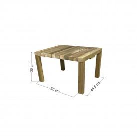 Τραπέζι παραλίας / κήπου φαγητού 55x44.5x36cm