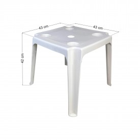Πλαστικό τραπέζι παραλίας/κήπου 43x43