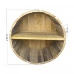 Ράφια από βαρέλι με 2 χωρίσματα - 56x38cm
