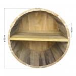 Ράφια από βαρέλι με 2 χωρίσματα - 62x42cm
