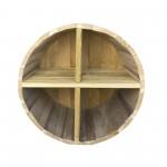 Ράφια από βαρέλι με 4 χωρίσματα - 39x27cm
