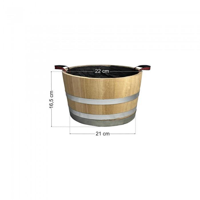 Γλάστρα - Βαρέλι μισό 16,5x22cm
