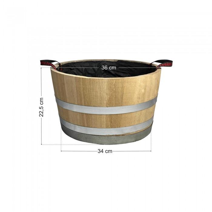 Γλάστρα - Βαρέλι μισό 22,5x36cm