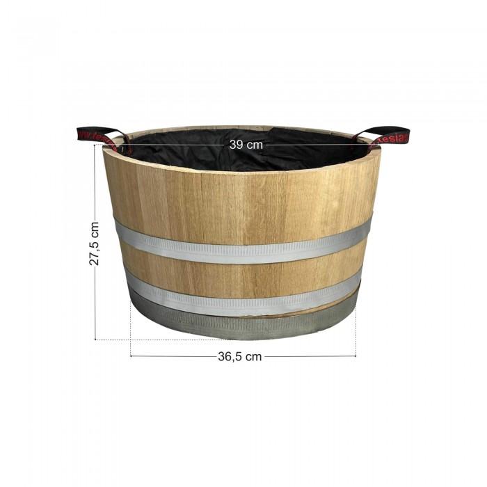 Γλάστρα - Βαρέλι μισό 27,5x39cm