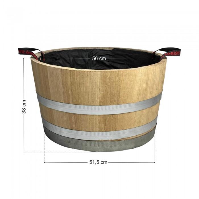 Γλάστρα - Βαρέλι μισό 38x56cm