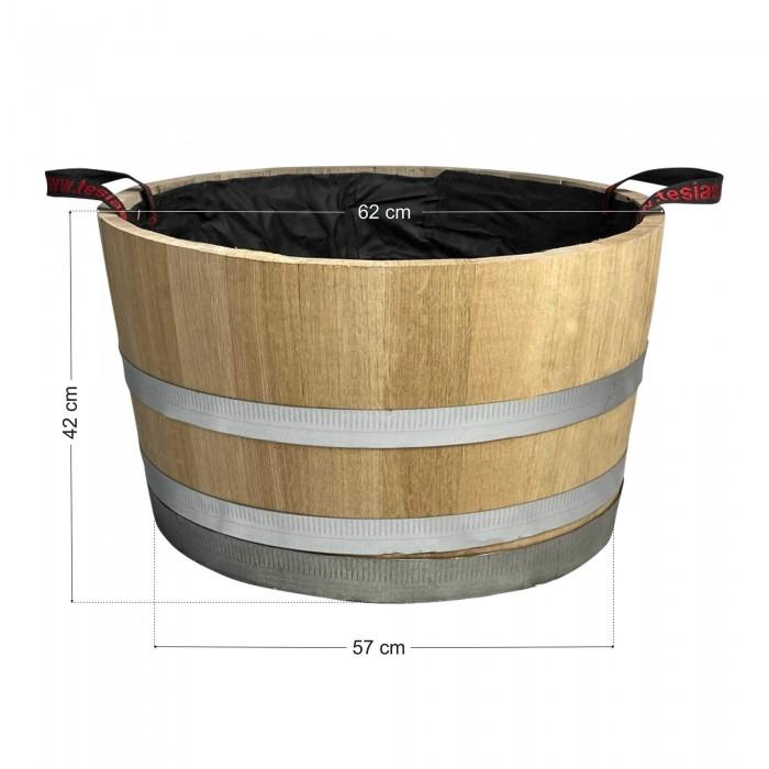 Γλάστρα - Βαρέλι μισό 42x62cm