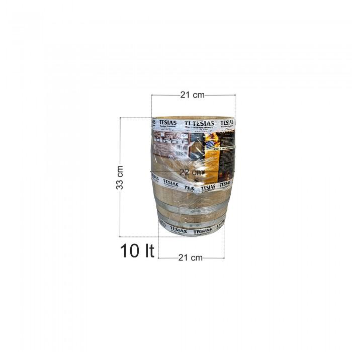 Βαρέλι κρασιού ξύλινο - καστανιά - 10lt