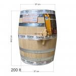 Βαρέλι κρασιού ξύλινο - δρύινο - 200lt