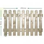 Φράχτης κήπου σταθερός - 180x80cm