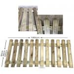Φράχτης κήπου σταθερός - 180x100cm