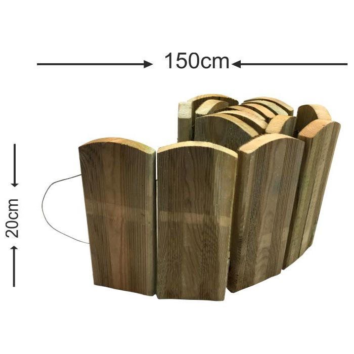 Roll bar με ξύλο πλάκα - 150x20cm