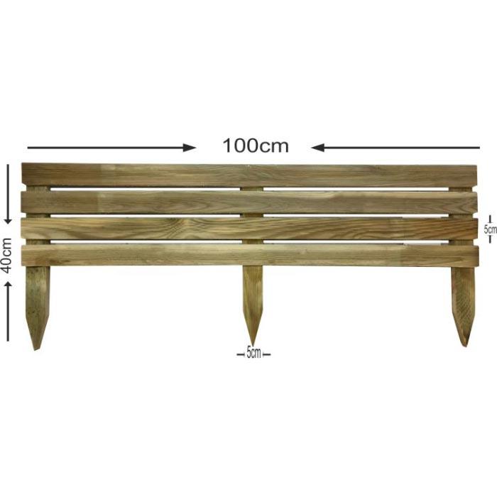Διαχωριστικό παρτέρι - Οριζόντιο - πλακέ ξύλο - 100x40cm