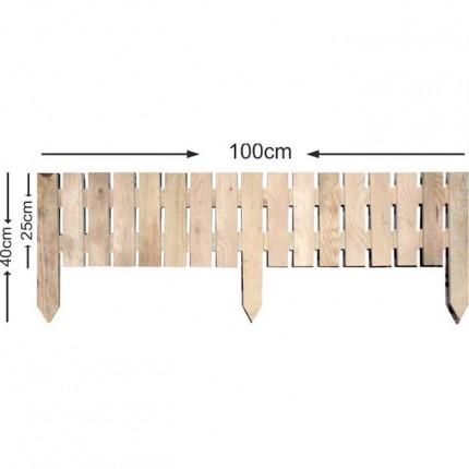 Διαχωριστικό παρτέρι - Κάθετο - Ξύλο πλάκα - 100x40cm