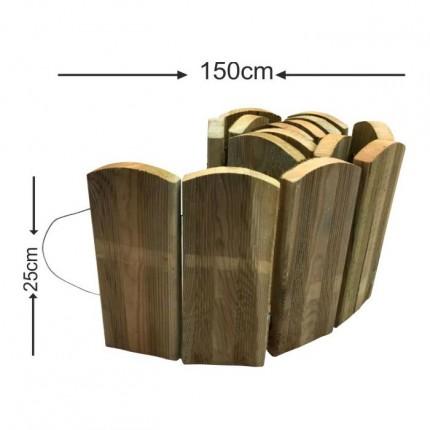 Διαχωριστικό παρτέρι ρολό - 150x25cm