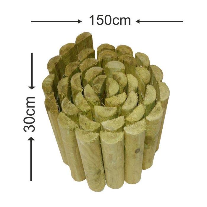 Roll bar με μισόξυλο - 150x30cm