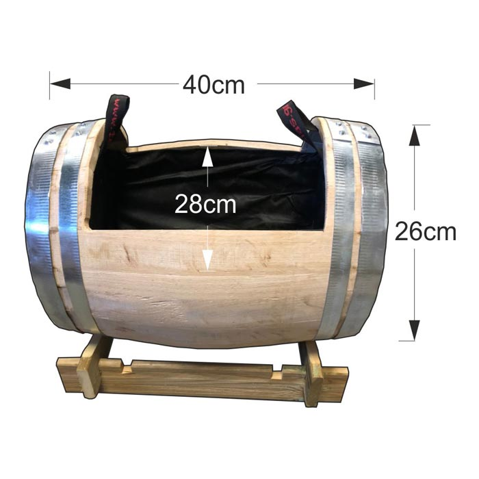 Ζαρντινιέρα - Βαρέλι 26x40cm