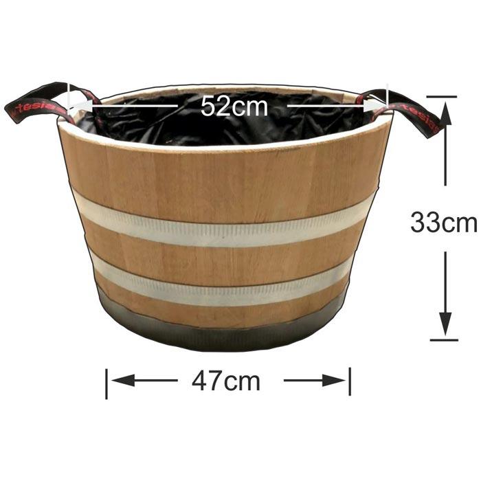 Γλάστρα - Βαρέλι μισό 33x52cm