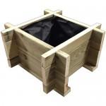 Ξύλινη γλάστα ECONOMY - 37x37x32