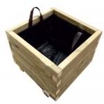 ΤΕΤΡΑΓΩΝΗ ξύλινη γλάστρα - 40x40x36