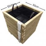 Γλάστρα εισόδου τετράγωνη - 50x50x60