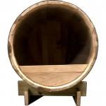 Ξύλινο σπιτάκι σκύλου εσωτ. χώρου από βαρέλι 45x34cm