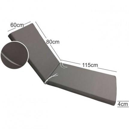 Στρώμα ξαπλώστρας 4cm γκρι