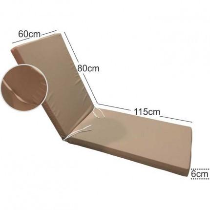 Στρώμα ξαπλώστρας 6cm μπεζ