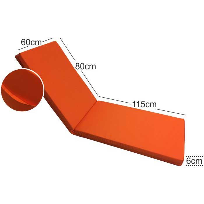 Στρώμα ξαπλώστρας 6cm πορτοκαλί