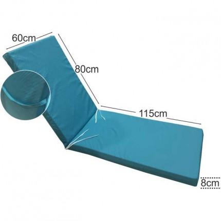 Στρώμα ξαπλώστρας 8cm τυρκουάζ