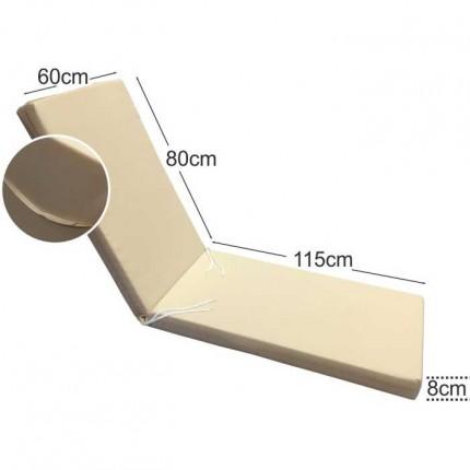Στρώμα ξαπλώστρας 8cm εκρού