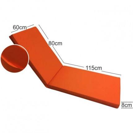 Στρώμα ξαπλώστρας 8cm πορτοκαλί