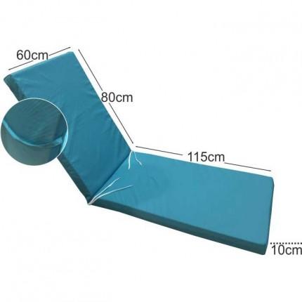 Στρώμα ξαπλώστρας 10cm τυρκουάζ