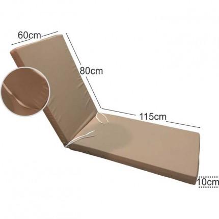 Στρώμα ξαπλώστρας 10cm μπεζ