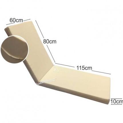 Στρώμα ξαπλώστρας 10cm εκρου