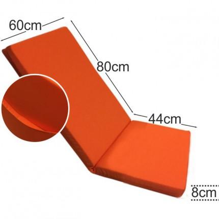 Στρώμα καρέκλας παραλίας 8cm πορτοκαλί