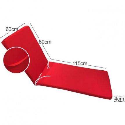 Στρώμα ξαπλώστρας 4cm κόκκινο