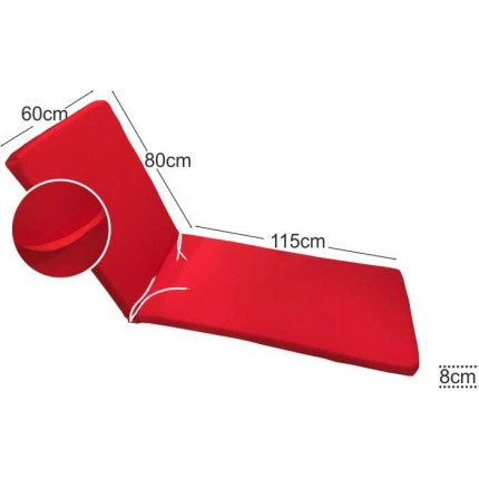 Στρώμα ξαπλώστρας 8cm κόκκινο